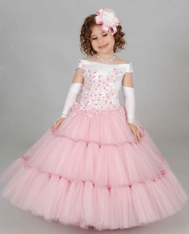33b05b686f71 Beautiful Prom Dresses Children Toddler Ball Gown Formal Girl Dresses