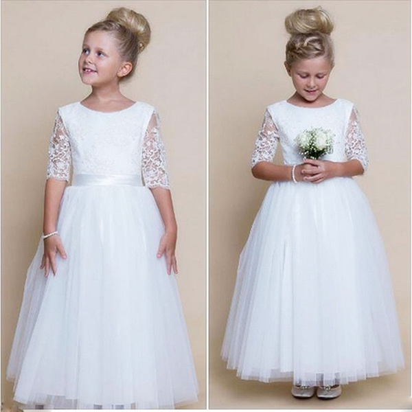 2018 Flower Girl Dresses Wedding Bridesmaid Birthday Party Formal ...