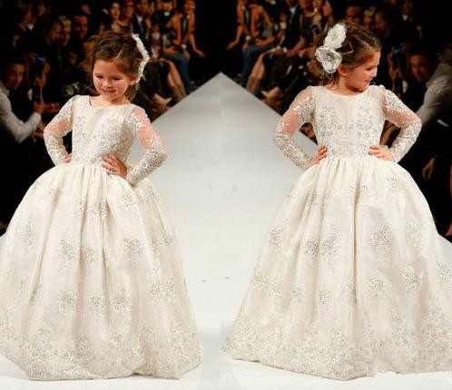 New Fashion Style Kids Communion Dresses,Lace Flower Girl Dresses ...