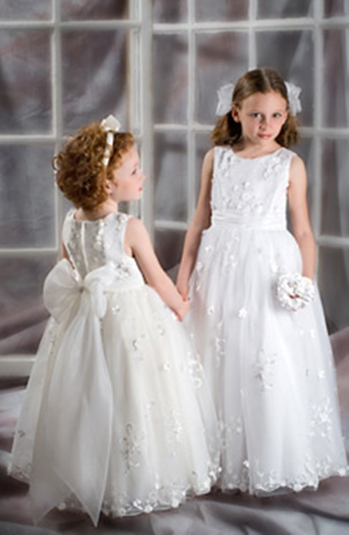 Kids prom dresses children junior bridesmaid dresses for Wedding dresses for child