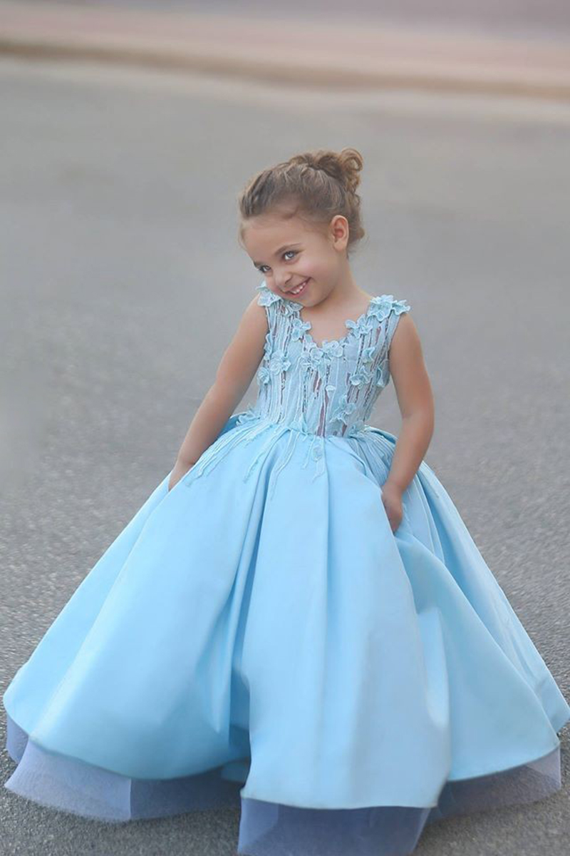 Popular Floor Length Flower Girls Dresses For Wedding First ...