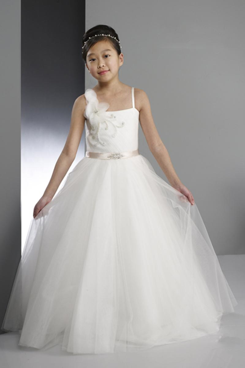 New Collection White Ivory Tull Flower Girl Dresses,Junior ...